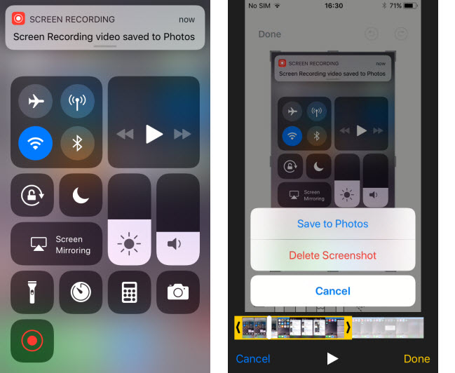 Image result for iOS 11 Screen Recording