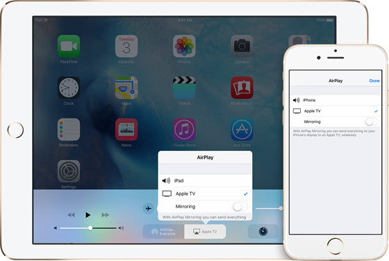 How to airplay mirroring ios 11 iphone x 8 7 and ipad for Mirror iphone to tv