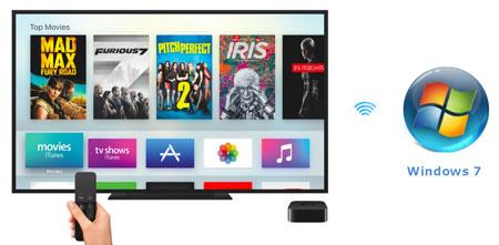 AirPlay Windows 7 to Apple TV 4/3/2 Free 3 Ways