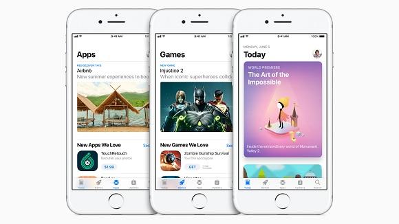 iOS 11とiOS 10比較