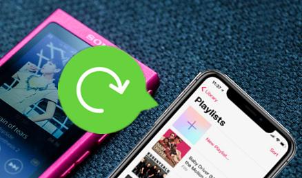形式を変換せず、ウォークマンからiPhoneに音楽を入れる方法