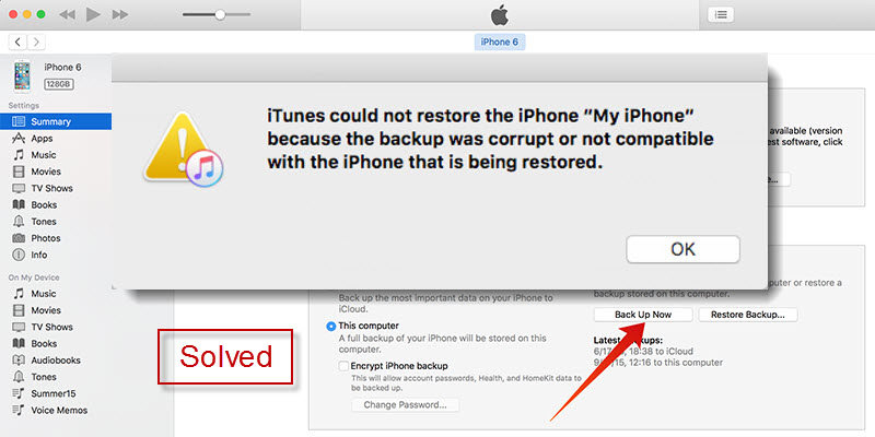 Solved]iPhone Backup Failed Not Enough Space
