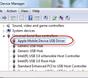 Apple Mobile Device USB Driver other device drivers ...