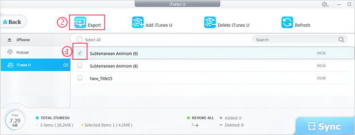 Selective Backup iPhone Podcast and iTunes U