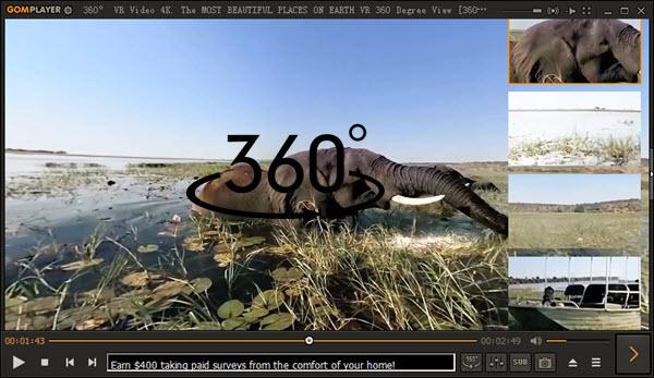 Top 4 Free 360° Video Players Windows 10/Mac Download
