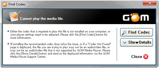 Gom media player codec download.